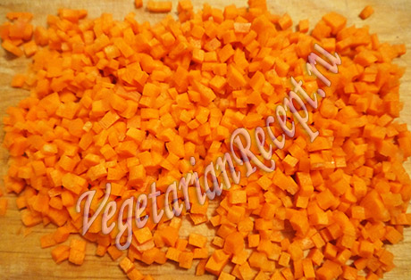 кубики моркови