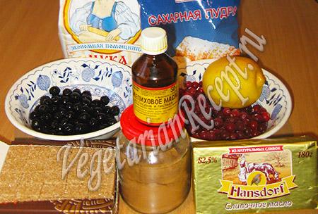 продукты для новогоднего печенья