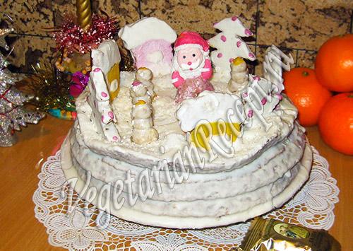 новогодний торт Дедморозовка