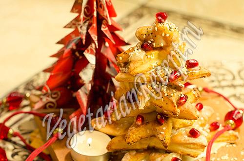 новогодняя елочка из печенья