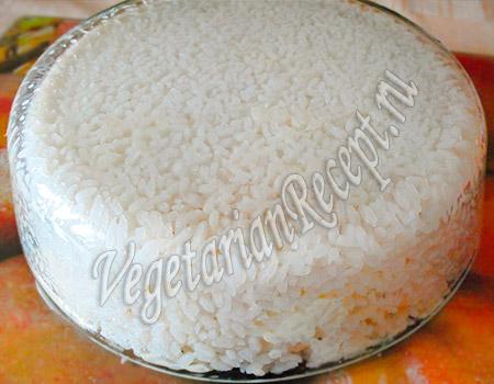 овощной торт с рисом