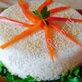 новогодний овощной торт