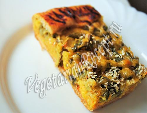 пирог со стручковой фасолью