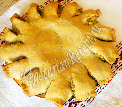 пирог солнышко - с сыром и укропом