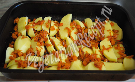 готовим штрудли - слой овощей