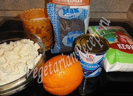 торт с творожным кремом - ингредиенты