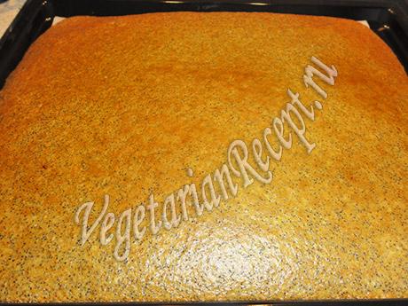 корж для торта с творожным кремом