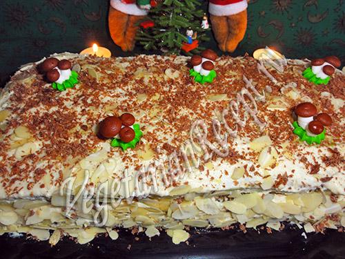 рецепт торта с творожным кремом