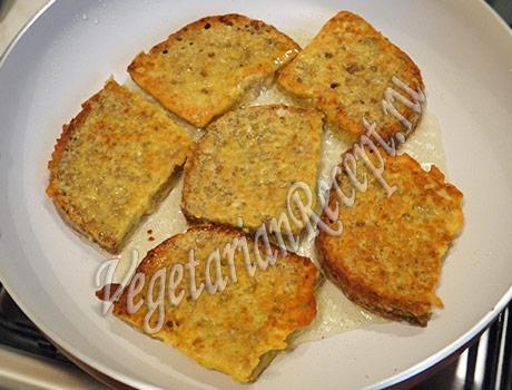 жареные хлебные тосты в кляре