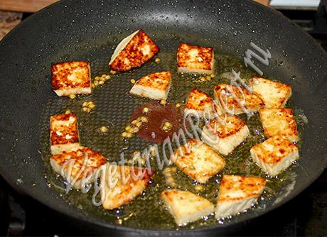 обжариваем сыр вместо рыбы