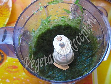 измельчаем морскую капусту для икры