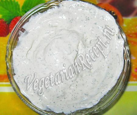 сметанный соус для вегетарианского салата