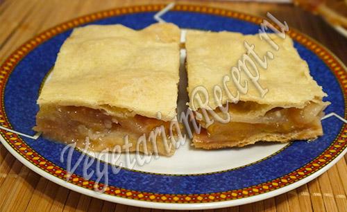 Яблочный пирог на противне рецепт с фото