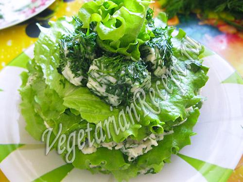 закусочный торт из зелени и фасоли