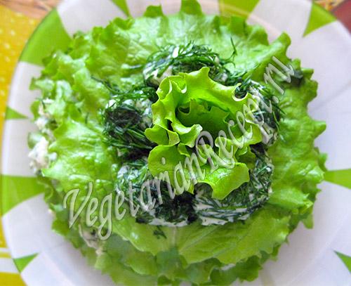 закусочный торт с зеленью