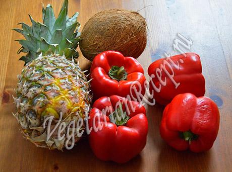 продукты для ананаса с перцем