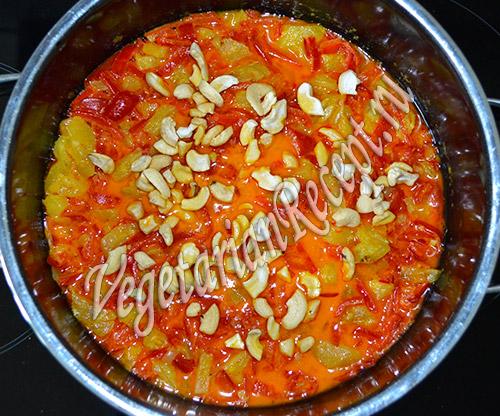 блюдо из ананаса и перца