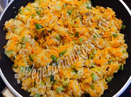 начинка для чебуреков - рис с овощами
