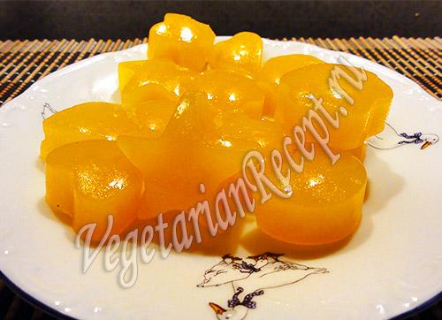 десерт для детей из апельсинов и тыквы