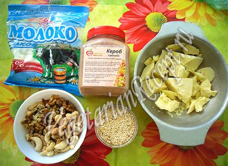 продукты для приготовления шоколадных конфет