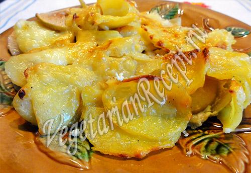 картошка в духовке с яблоками запеченная