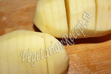 делаем из картошки гармошку