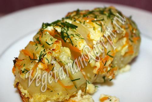 картошка гармошка в духовке рецепты