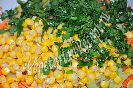 приготовление оранжевого салата