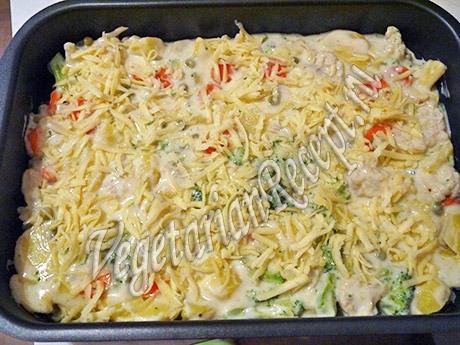 овощи под соусом и сыром