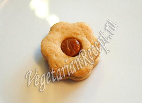 рецепт печенья со сгущенкой в виде ромашки