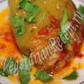 перец фаршированный овощами и рисом