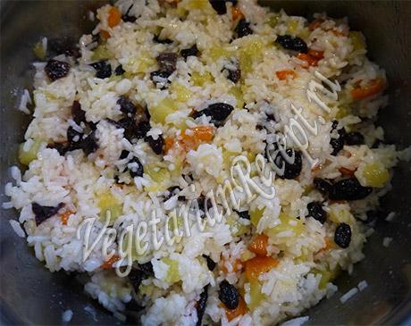 начинка для пирожков - рис, тыква, сухофрукты