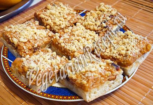 Быстрый пирог со сгущенкой и грецкими орехами / Сладкая выпечка ... | 343x500