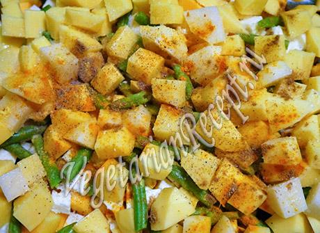 сабджи с сыром и овощами