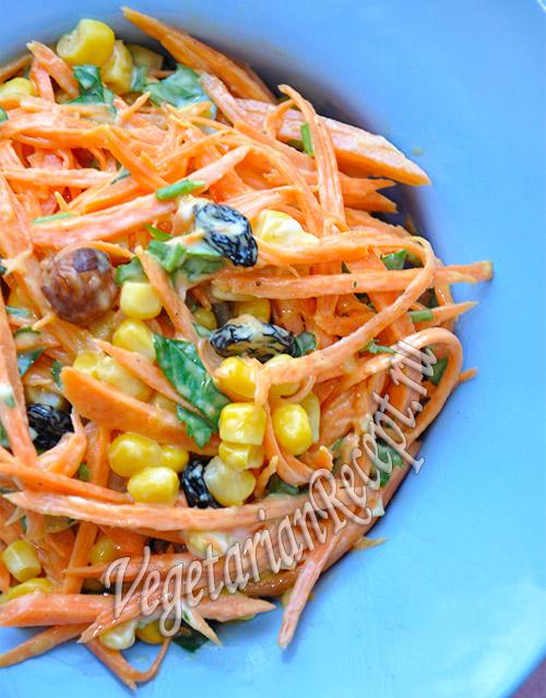 Салат Оранжевый из моркови