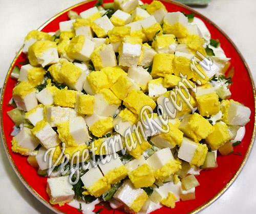 """вегетарианский салат с """"яйцом"""""""