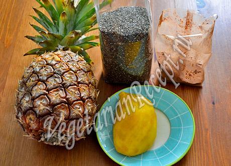 семена чиа и фрукты для рецепта