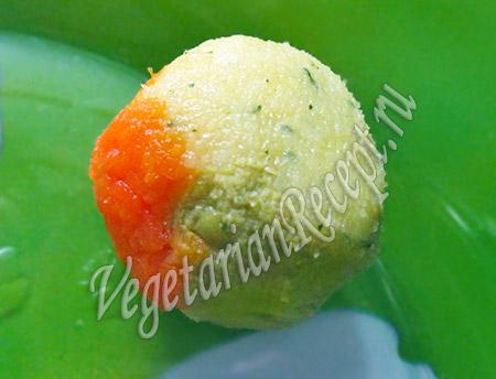 цветное пюре - шарик