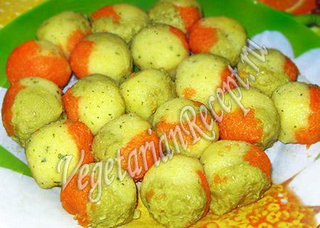 шарики из разноцветного пюре