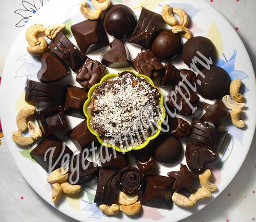 Домашние шоколадные конфеты. Фото