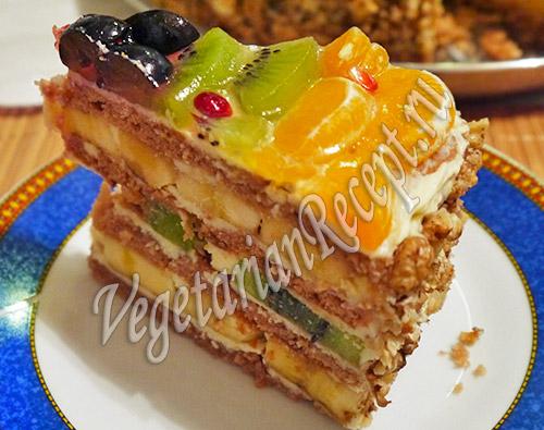 Фруктовый рай - торт с фруктами. Фото