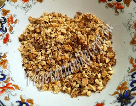 грецкие орехи для обсыпки торта