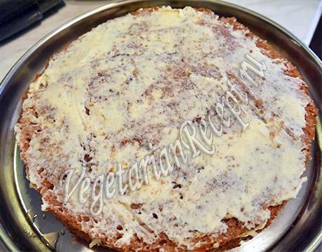 корж торта с кремом