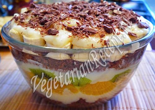 Десерт трайфл. Фото