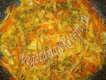начинка из овощей для рулета