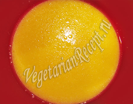 тесто на рулет - жидкие ингредиенты