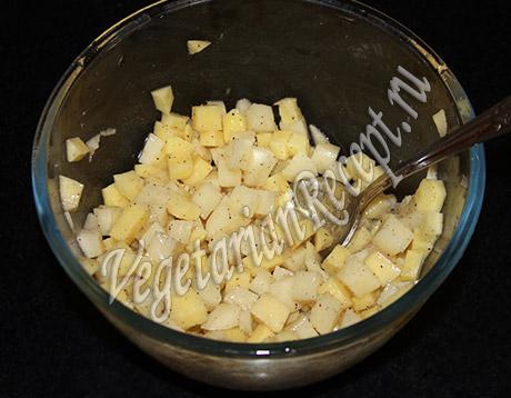 картошка кубиками для начинки пирога