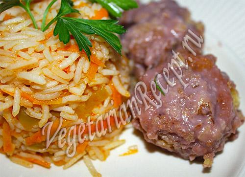 рис с перцем и морковью