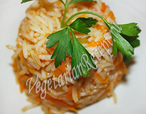 рецепт рис с перцем