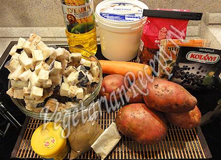 ингредиенты для рулета с фасолью